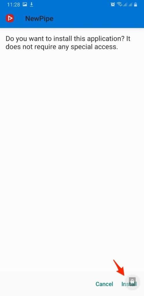 ดาวน์โหลด Youtube และเล่นแบบปิดจอด้วย NewPipe