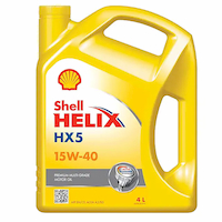 น้ำมันเครื่อง เชลล์ Shell Helix HX5 เบอร์ 15W-40