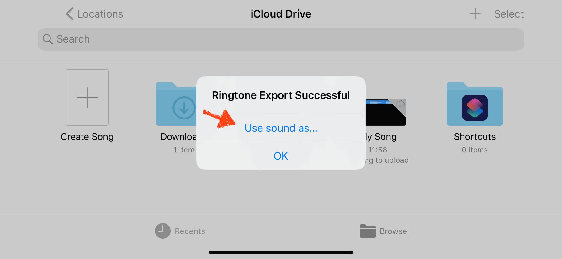 21) โปรแกรมจะแจ้งว่านำออกสำเร็จ ให้กดที่ Use sound as..