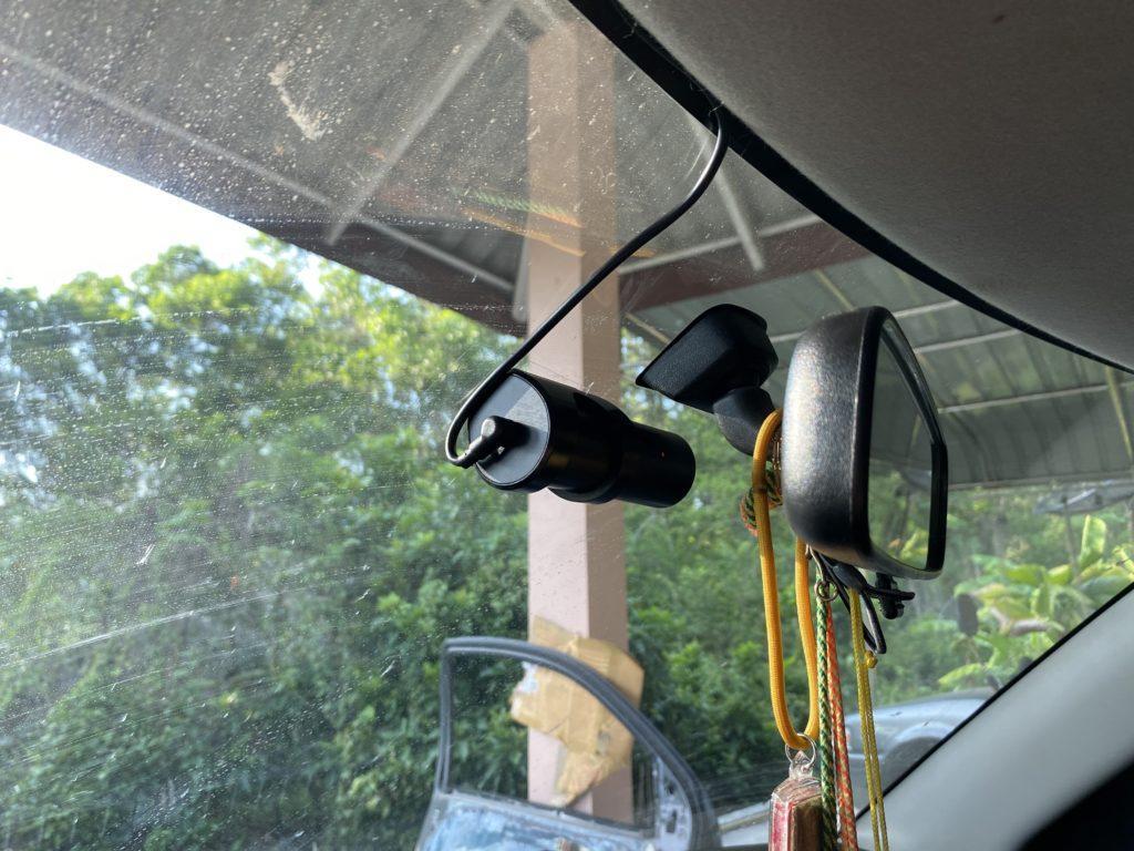 ติดตั้งกล้องติดรถยนต์ ภายในห้องโดยสาร Suzuki Swift ปี 2012