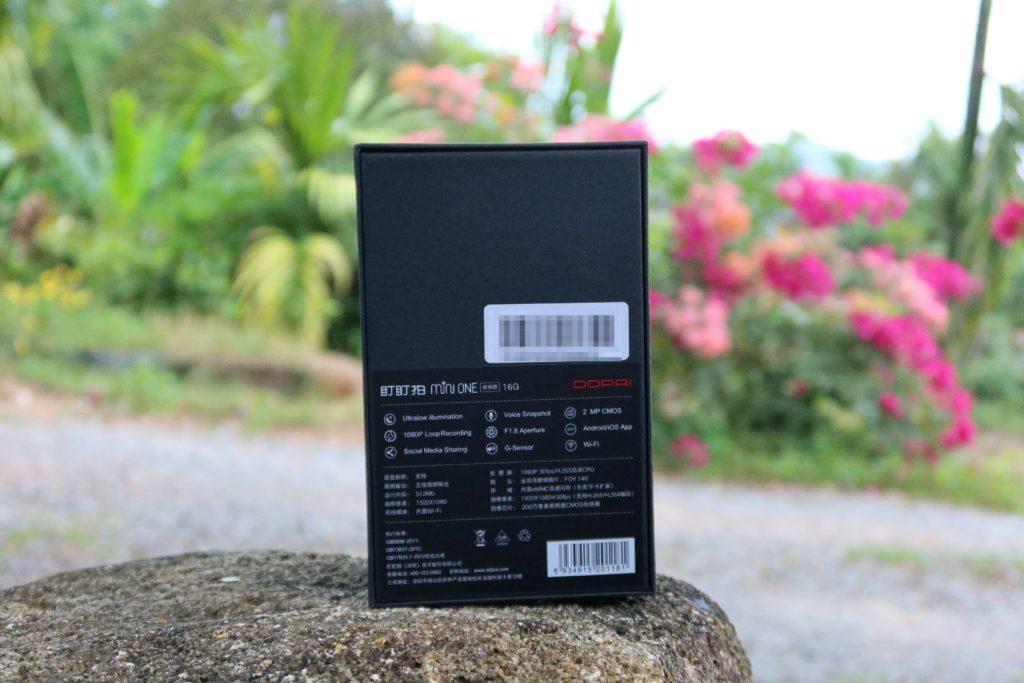กล่อง กล้องติดรถยนต์ DDPai Mini One ด้านหลัง