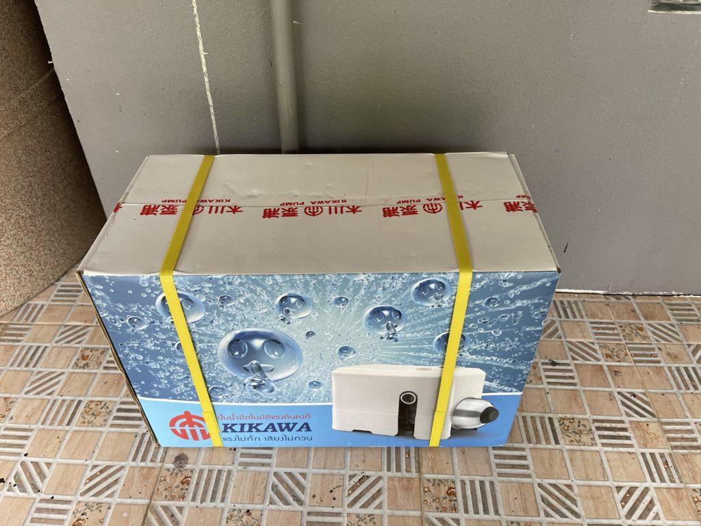 ปั๊มน้ำ KIKAWA KQ-400N ก่อนติดตั้ง