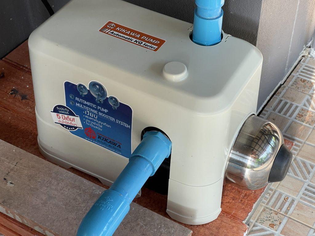 ปั๊มน้ำ KIKAWA KQ-400N ติดตั้งเรียบร้อย